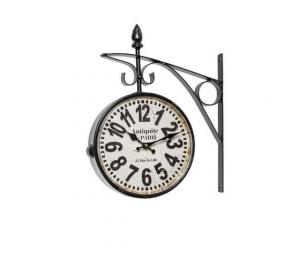 orologio da stazione nero