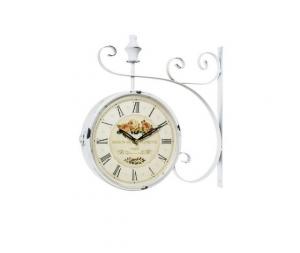 orologio da stazione bianco cafè