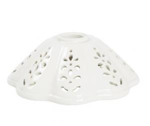 piatto in ceramica a cono traforato 17cm