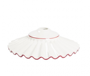 piatto in ceramica plissettato rosso 38cm