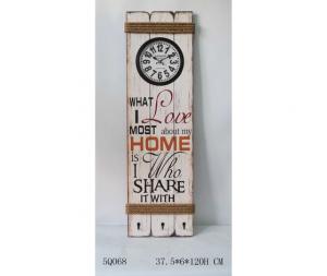 Orologio pannello Home Love Bianco
