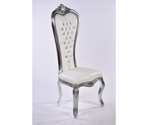 Sedia barocco argento bianca