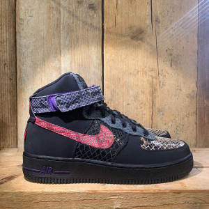 Scarpa Nike Air Force 1 Hi Comfort Premium 'Year of the Snake' Nera e Pitonata