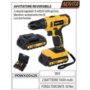 Power avvitatore 16v 2 batterie 1300 mah reversibile