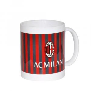 Tazza cilindrica rosso/nera del MILAN in ceramica