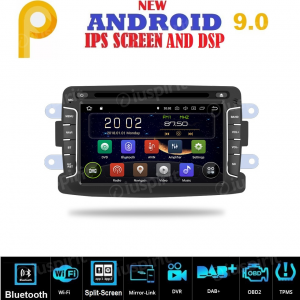 ANDROID 9.0 autoradio navigatore per Dacia Duster Logan Sandero Dokker Lodgy Renault Duster GPS DVD WI-FI Bluetooth MirrorLink