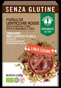 Fusilli 100% lenticchie rosse