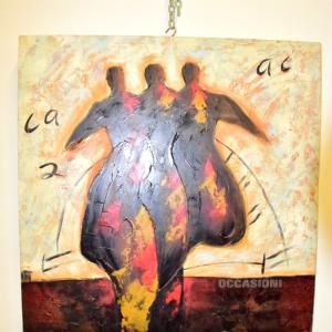 Quadro Dipinto Su Tela 80*80 Cm Persone Che Camminano