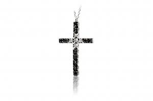 Collana Croce-ORO DI NAPOLI- in oro con diamanti