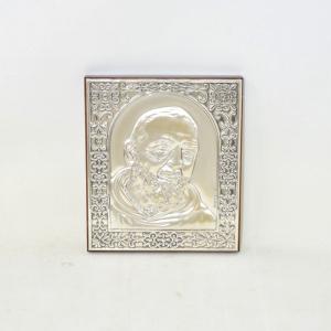 Icona Padre Pio Da Appendere In Argento