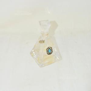 Bottiglia Piramide In Cristallo Con Tappo E Logo In Argento