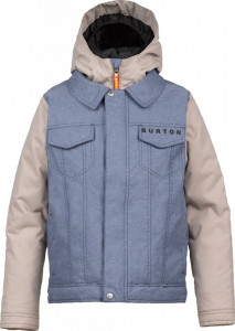 Giacca Snowboard Burton Kids Denim Jacket Wash Stone