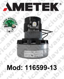 Vacuum Motor 116599-13 (119599-18 , 119599-53) LAMB AMETEK valid for sostituire motore 119435.02