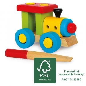 Locomotiva da costruire Gioco in legno certificato FSC