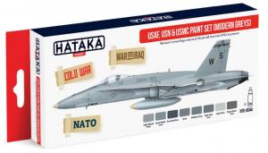 USAF, USN & USMC paint set (modern greys)
