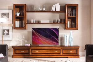 Mueble de tv para salón estilo clásico en madera
