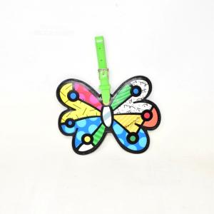Targhetta valigia Farfalla 14,5x19 cm Romero Britto