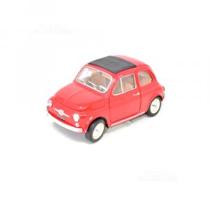 Modellino Fiat 500 Rossa (manca Un Fanale E Maniglia Porte)