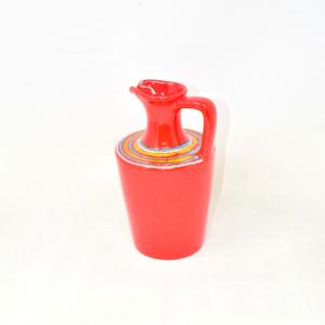 Brocca In Ceramica Rossa Vintage