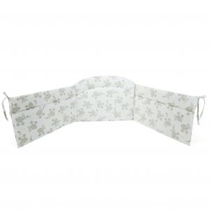 Babysanity Paracolpi per lettino/culla lati corti lunghezza 195 cm Fantasia letterina beige