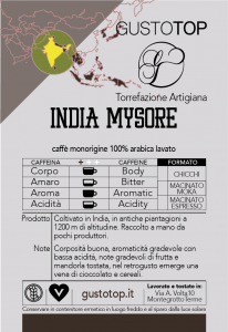 Caffè monorigine in cialda India Mysore, confezione da n. 50 cialde in carta ese 44 mm compatibili