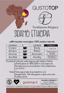 Single-origin coffee in Ethiopia pods Sidamo, pack of n. 50 paper pods ese 44 mm compatible