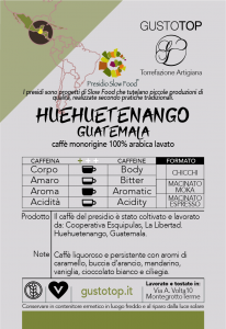 Single origin coffee in Guatemala Huehueguetenango pod, pack of n. 50 paper pods ese 44 mm compatible
