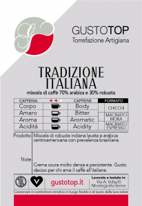 Miscela di Caffè in cialde Tradizione Italiana (70% arabica 30% robusta), confezione da n. 50 cialde in carta ese 44 mm compatibili