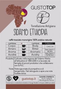 Caffè monorigine in cialda Etiopia Sidamo, confezione da n. 25 cialde in carta ese 44 mm compatibili