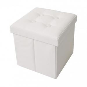 Pouff contenitore bianco