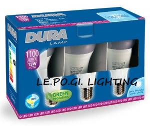 BLISTER 3 LAMPADINE 13W/E27 6400K DURALAMP