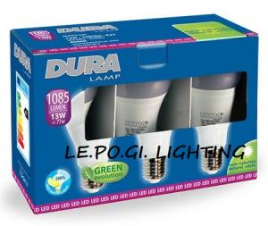 BLISTER 3 LAMPADINE 13W/E27 4000K DURALAMP