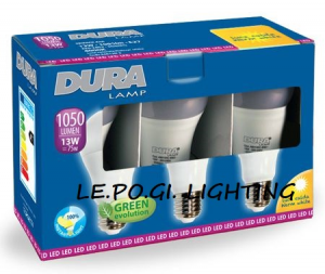 BLISTER 3 LAMPADINE 13W/E27 3000K DURALAMP