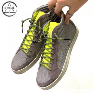 P448 - S20SKATE-M - sneakers grigio reflective, giallo fluo.