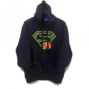 Felpa Superman taglia L con cappuccio blu