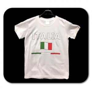 T-shirt bianca con scritta ITALIA adulto - Taglie S/L