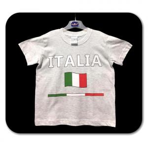 T-shirt grigia con scritta ITALIA bambino - 5/11 anni