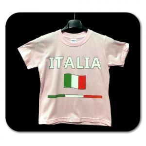 T-shirt rosa con scritta ITALIA bambino - 5/11 anni