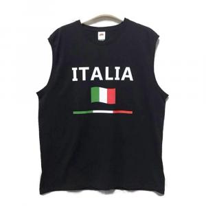 CANOTTA nera con scritta ITALIA adulto - Taglie S/XL