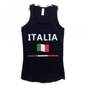 CANOTTA blu con scritta ITALIA adulto - Taglie S/XL