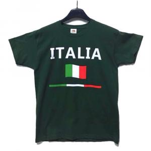 T-shirt verde con scritta ITALIA bambino - 5/11 anni