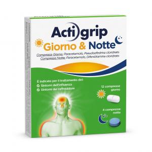 ACTIGRIP GIORNO E NOTTE 12+4 Compresse