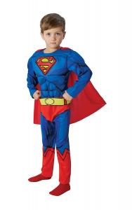 Rubie's -Superman Deluxe Costume, con Muscoli, Taglia L