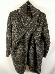 Giacca lunga donna in maglia