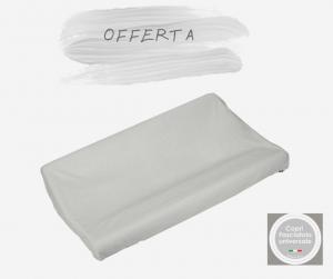 SUPER OFFERTA  2 PEZZI Copri fasciatoio in MICRO FIBRFA di cotone colore grigio-2