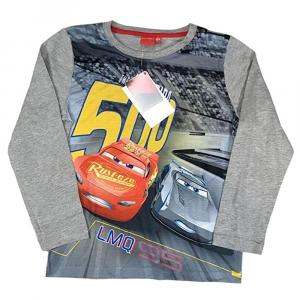 T-shirt grigia CARS manica lunga bambino - 6/8 anni