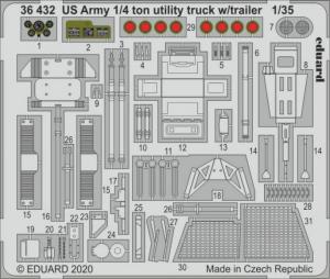 US Army 1/4 ton utility truck w/ trailer