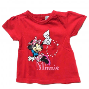 T-shirt rossa MINNIE a manica corta neonata - 12 mesi