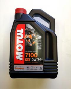 OLIO MOTORE MOTUL 7100 per MOTO e SCOOTER - 4 LITRI - 100% SINTETICO  SAE 10W50