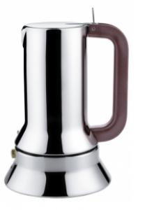 ALESSI CAFFETTIERA ESPRESSO DA 1 TAZZA IN ACCIAIO INOX 18/10 FONDO MAGNETICO DESIGN RICHARD SAPPER ADATTA ALL'INDUZIONE 9090/1